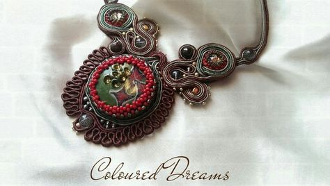 Caleidoscope, soutache necklace