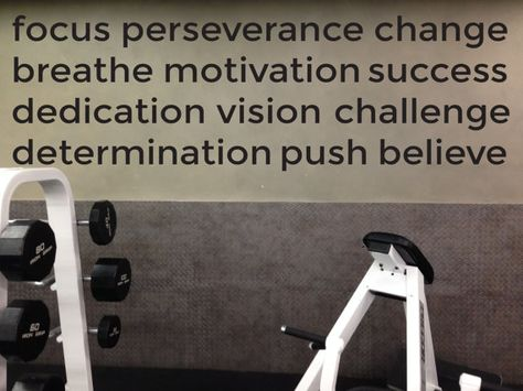 Home gym ideas motivational gym wall decal #fitness #motivation