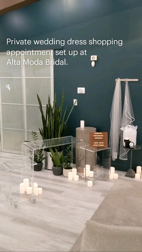 Private wedding dress shopping appointment set up at Alta Moda Bridal.