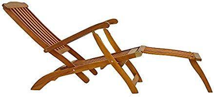 Deuba Garden Lounger Wooden Lounger Folding Recliner Queen Mary