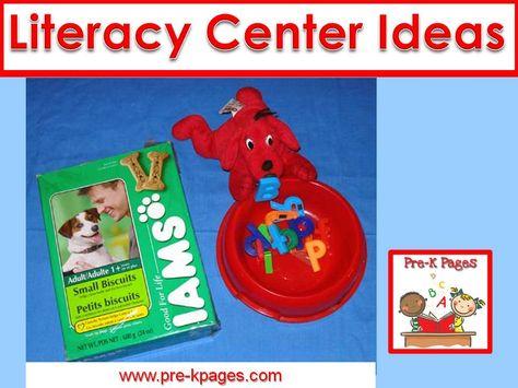 Literacy center ideas and activities for your preschool, pre-k, or kindergarten classroom.
