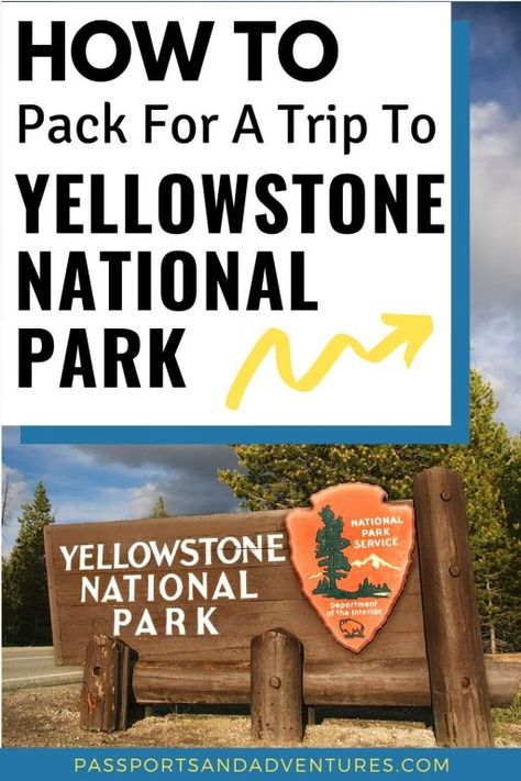 Looking for a Yellowstone Packing List? With our complete guide to what to pack for visiting Yellowstone, I've got you covered with all the essentials Visit Yellowstone, Yellowstone Vacation, Yellowstone National Park, Yellowstone Camping, Us National Parks, Grand Teton National Park, Packing List For Vacation, Packing Tips, Vacation Trips