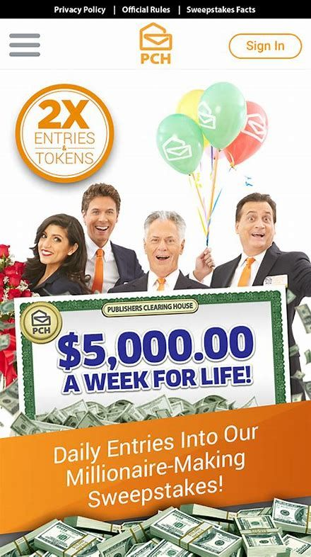 Image result for PCH Clearing House Sweepstakes Entry