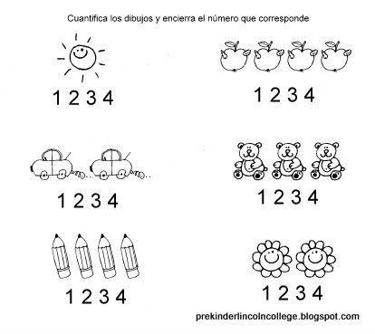 Identifica Cantidades Asociados Con Los Numerales 1 2 3 4 Fichas Actividades De Lectura Preescolar Libros De Preescolar