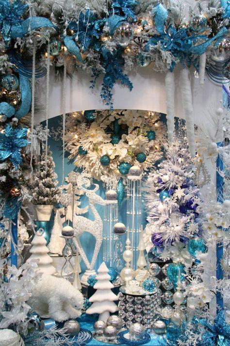 Fabulous christmas decorations for a winter wonderland 03 ~ Popular Living Room Design