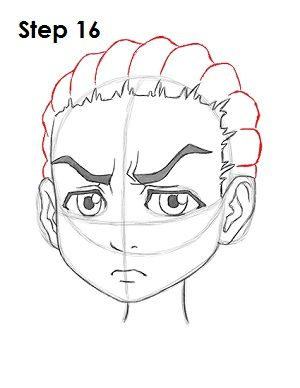 Boondocks Drawing Style : boondocks, drawing, style, Riley, Freeman, Boondocks, Drawings,, Anime, Drawings, Sketches