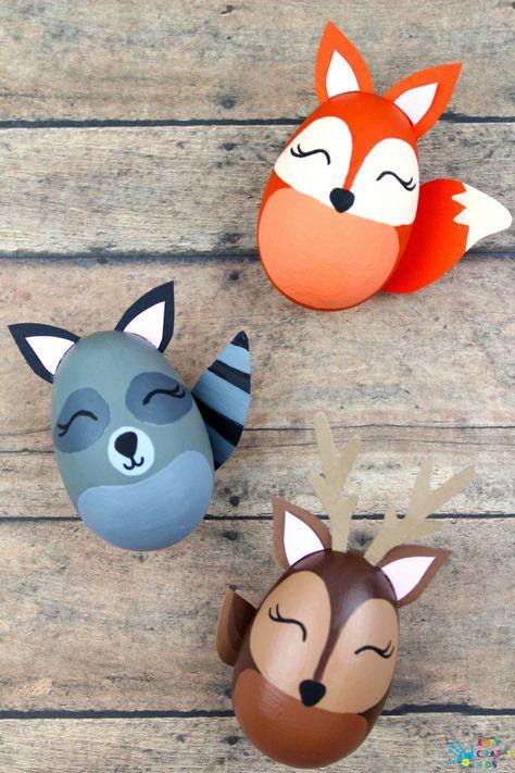 Arty Crafty Kids | Easter Crafts for Kids | Woodland Animal Easter Egg Craft