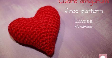 Schema cuore amigurumi italiano   Crochet heart pattern ...   248x472