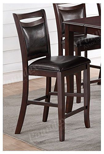 Set Of 4 Faux Leather Counter Height Dining Chairs Dining Chairs Dining Chair Set Furniture