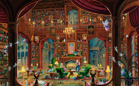 Painted by Randal Spangler, Sanctuary of Knowledge wall mural from Murals Your Way will add a distinctive touch to any room. Choose a pre-set size, or customize to your wall.