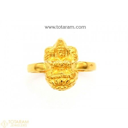 f80f3d375 22K Gold 'Lakshmi' Ring For Women - 235-GR4367 - Buy this Latest Indian  Gold Jewelry Design in 2.700 Grams for a low price of $189.99