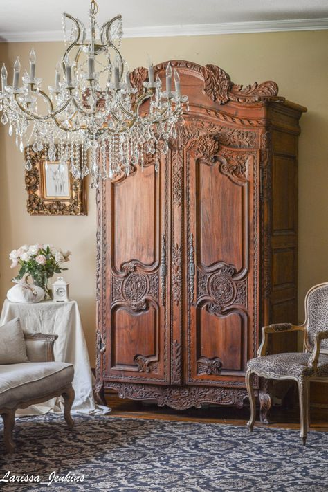 Inspiring Pink Fall Decorations French Country Home Tour ...
