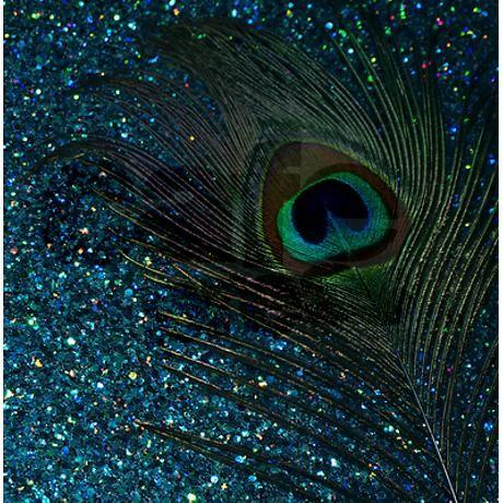 Glittery Aqua Peacock Shower Curtain By Christyo Peacock Shower