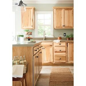 Diamond Now Denver 36 In W X 35 In H X 23 75 In D Natural Sink Base Stock Cabinet Lowes Com Stock Cabinets Rustic Corner Cabinet Cabinet