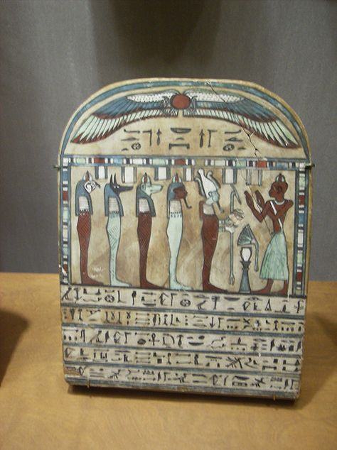 Painted Wooden Funerary Stela: The God's-Father of Amun Pakeski 750-525 BC