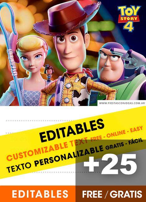25 Tarjetas De Invitación De Toy Story Gratis Nuevas
