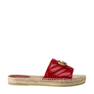 Gucci Leather Espadrille Sandal In 2020 Footwear Design Women Women Shoes Leather Espadrilles