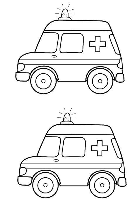 Ambulans Boyama Sayfasi Ambulans Boyama Sayfalari Ve Okul Oncesi