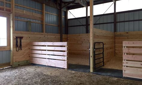 horse barn designs Woods is part of Free Horse Barn Plans Wood Woodriverag Com - Easy inexpensive horse stalls Horse Shelter, Horse Stables, Horse Farms, Horse Arena, Goat Barn, Farm Barn, Horse Barn Designs, Barn Layout, Barn Stalls
