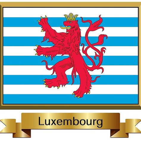 Luxembourg Flag Stickers Gifts And Products Civil Named Luxembourg Flag Flag Flags Of The World