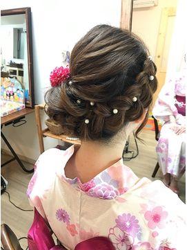 Hair Set Spa Roquat Salon ヘアセット アンド スパ ロカットサロン 編み込み浴衣サイドアップ 袴にも ヘアアレンジ 立川南口 成人式 ヘアスタイル ロング 成人式 ヘアスタイル 髪型