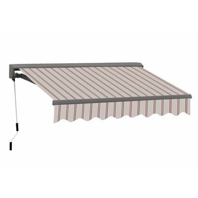 Motorized 13 Ft W X 8 Ft D Fabric Retractable Standard Patio Awning Patio Awning Awning Stylish Patio