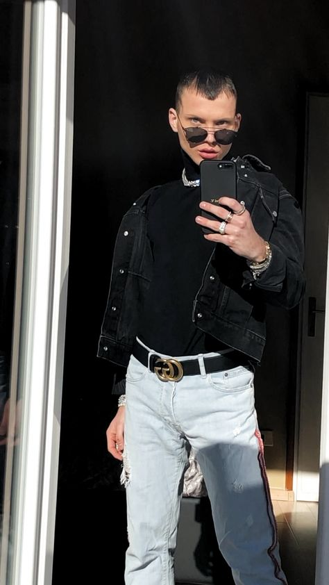 #black #ootd #ootdfashion #fashion #fashionillustration #fashionoutfits #fashionshoes #sneakers #sneakerhead #gucci #guccibelt #guccisneaker #sneakersfashionoutfits #sneakersfashion #jeans #denim #denimjacket #ripped #rippedjeans #mirror #mirrordecor #jewelry #jewelrydesign #jewelryrings #jewelrynecklaces #accessoires #accesorios #accessori #poses #instagram #inspiration #instagood #necklace #rings #ringsdesigns #design #luxury #luxurycars #gold #goldjewelry #goldnecklace #diamond #diamondrings