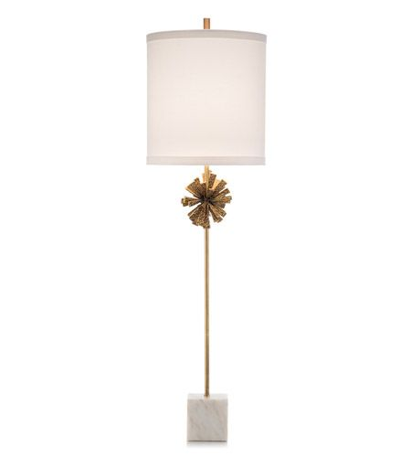 John Richard Jrl 9464 Crutalist 46 Inch 150 Watt White And Brass Buffet Lamp Portable Light Buffet Lamps Lamp Portable Light