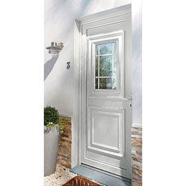 Porte D Entree Pvc Geom Conveks Blanc 80 X H 215 Cm Poussant Droit Porte Entree Pvc Porte D Entree