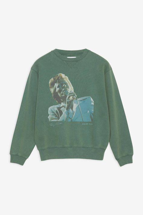 ANINE BING Ramona Sweatshirt Ab X To Bowie - Green