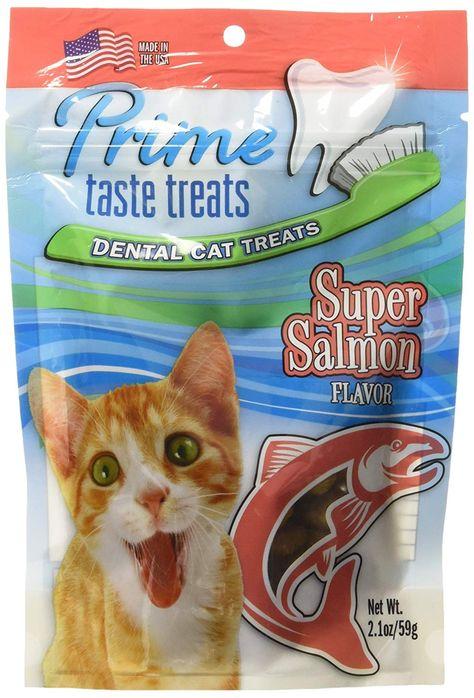 Prime Taste Treats Salmon Flavor Dental Treat For Cats 2 1 Oz 59g You Can Get Additional Details At The Image Link Dental Treats Diy Dog Stuff Cat Treats