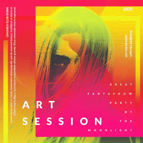 Art Session Square Flyer Template PSD