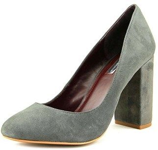 Bcbgeneration Franka Women Round Toe Suede Gray Heels | Suede heels,  Rounding and Products