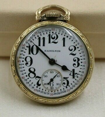 Sponsored Vintage 10k Gold Filled Hamilton 992b Railroad Pocket Watch Railroad Pocket Watch Pocket Watch 10k Gold