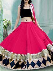pink georgette lehenga - Online Shopping for lehengas