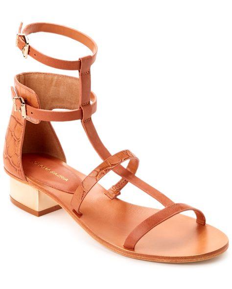 """Rue La La — BCBGMAXAZRIA """"Cross"""" Leather Sandal"""