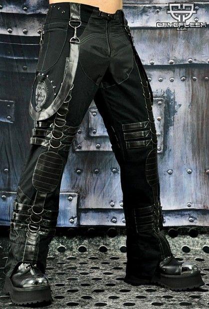 Cyber goth male clothing