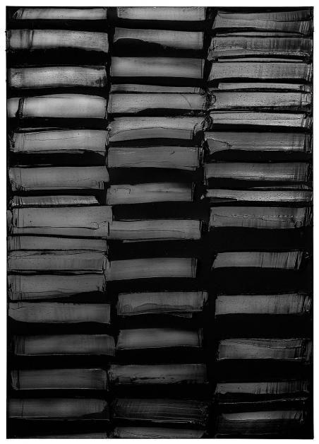 Pierre Soulages, peinture 201x143cm, 3 mars 2013