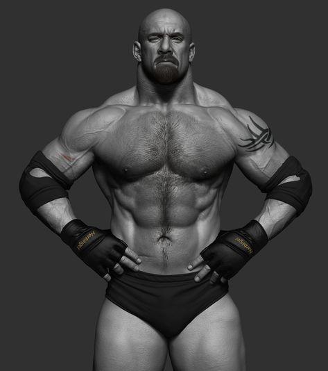 ArtStation - Goldberg - WWE, Hossein Diba | 3D Character | Pinterest
