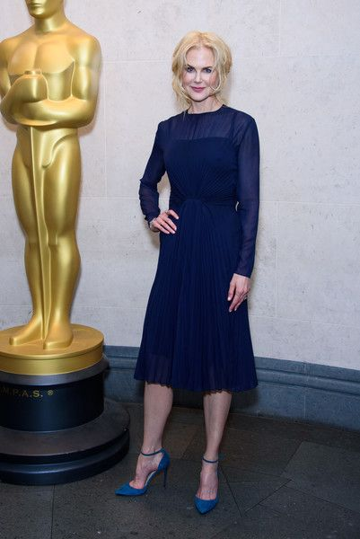 Nicole Kidman attends The Academy of Motion Picture Arts and Sciences new members reception at The National Gallery.