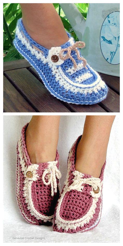 Shoe Pattern, Crochet Shoes Pattern, Crochet Boots, Crochet Scarves, Crochet Clothes, Knit Slippers Free Pattern, Knitted Slippers, Loafer Slippers, Loafer Shoes