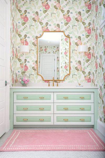 Indianapolis Home Of Distinction Whittney Parkinson Design Girls Bathroom Design Green Girls Rooms Girl Bathrooms