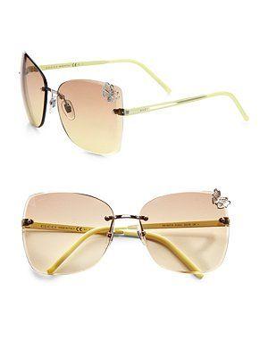 Gucci Rimless Square Butterfly Sunglasses Butterfly Sunglasses Sunglasses Cheap Sunglasses