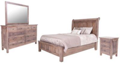Daniel S Amish Lewiston 4 Piece Queen Sleigh Bedroom Set