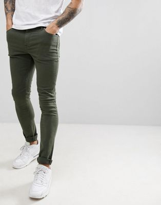 Asos Design Super Skinny Jeans In Green Jeans Outfit Men Green Jeans Outfit Denim Jeans Men