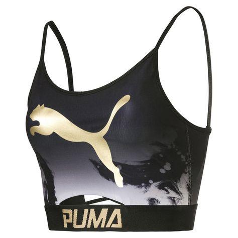 Image 1 of Sujetador tipo top de mujer en Puma Black-AOP