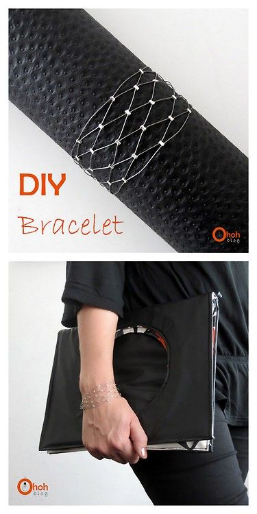 DIY Easy Wire Crimp Bead Lattice Bracelet Tutorial from Ohoh Blog here.Tip: practice any wire design on cheap wire first, then move onto mo...