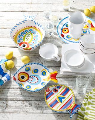new pieces from fishfish dinnerware and accents collection - Vietri Dishes