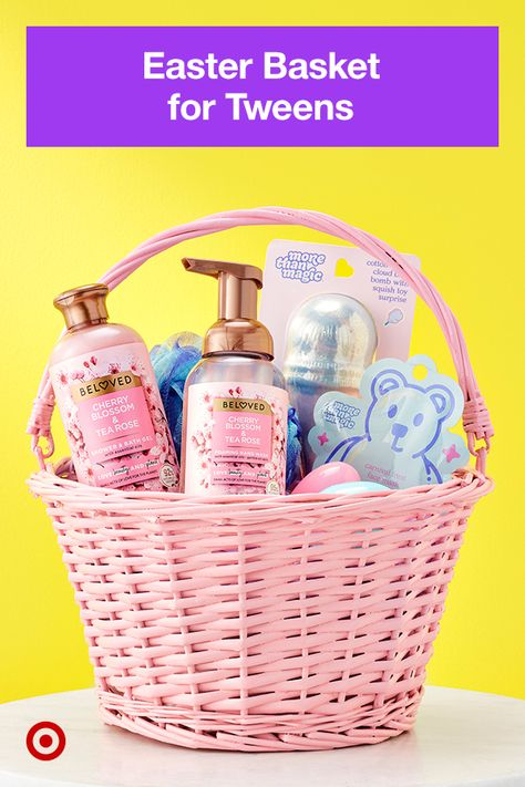 Build a stylish self-care basket, complete with lotions, scrubs, bath bombs and more.