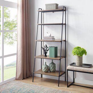 Trent Austin Design Harva Ladder Bookcase Wayfair En 2021 Decoracion De Interiores Muebles Industriales Acabado De Muebles